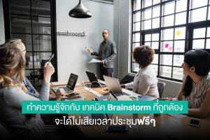 เทคนิคเบรนด์สตรอม ( Brainstorm )